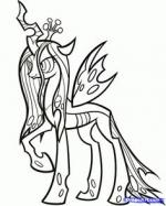 Queen Chrysalis coloring