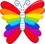 Rainbow Butterfly clipart