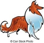 Rough Collie clipart