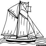 Sailboat coloring