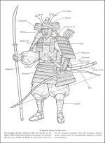 Samurai Warrior coloring