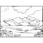 Santiago Lake coloring