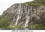 Seven Sisters Waterfall, Norway clipart