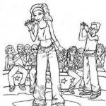 Singer coloring