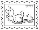 Stamp coloring