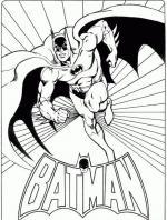 Superhero coloring