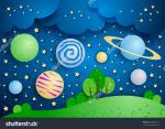 Surreal Planet Sky clipart