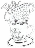 Tea Cup coloring