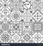 Tiles coloring