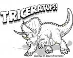 Triceratops coloring