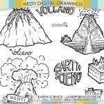 Vulcano Island coloring