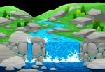 Waterfall clipart