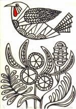 Wattlebird coloring