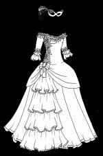 White Dress coloring
