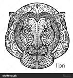 White Lion coloring