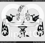 White Peafowl clipart