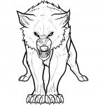 Howling Wolf coloring
