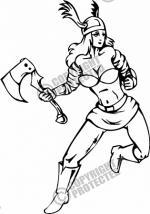 Women Warrior clipart
