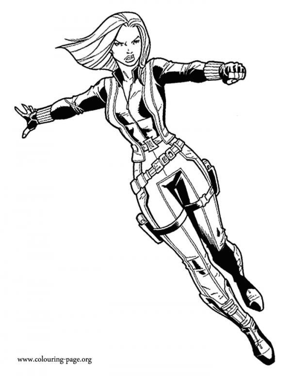 Black Widow coloring