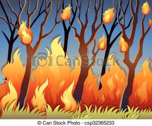 Bushfire clipart