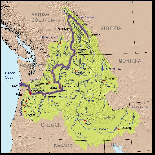 Columbia River svg