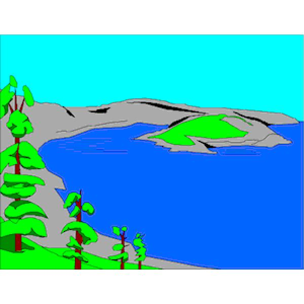 Crater Lake clipart