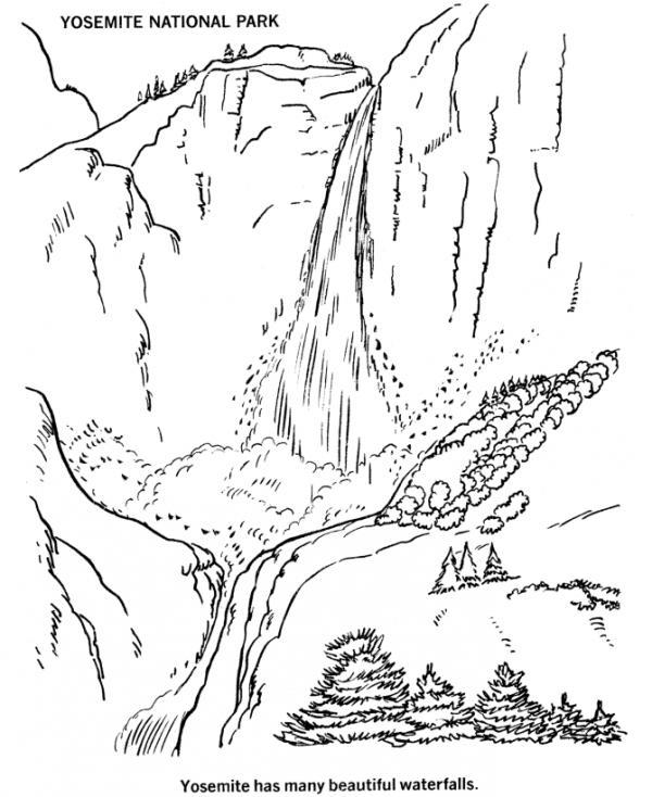 Glacier National Park coloring