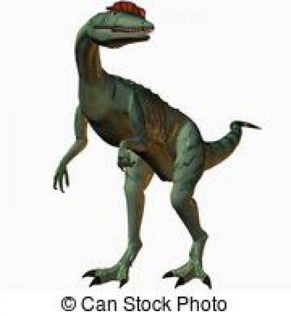 Dilophosaurus clipart