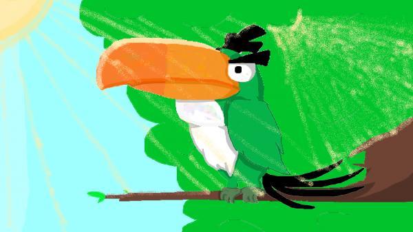 Emerald Toucanet clipart