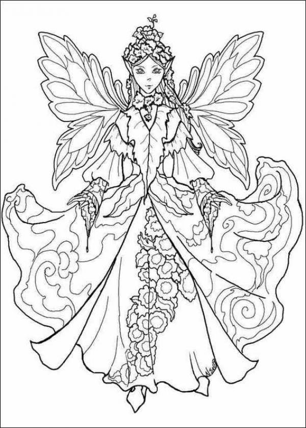 Gorgeous Fairies! coloring