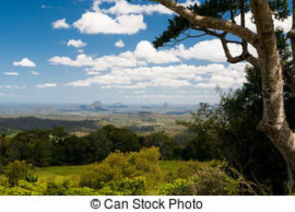 Glasshouse Mountains clipart