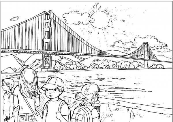 Golden Gate coloring
