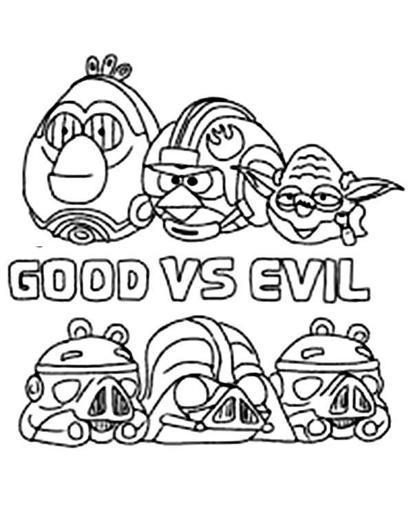 Good Vs. Evil coloring