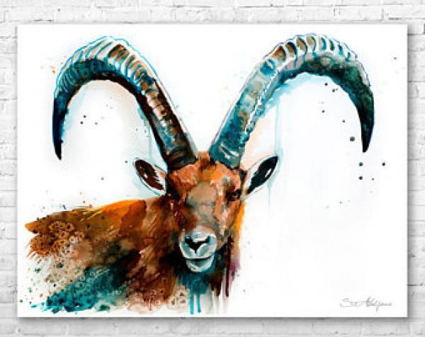Alpine Ibex svg