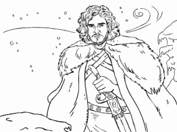 Jon Snow coloring