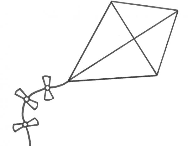 Paper Kite coloring