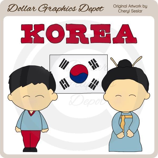 Korean clipart