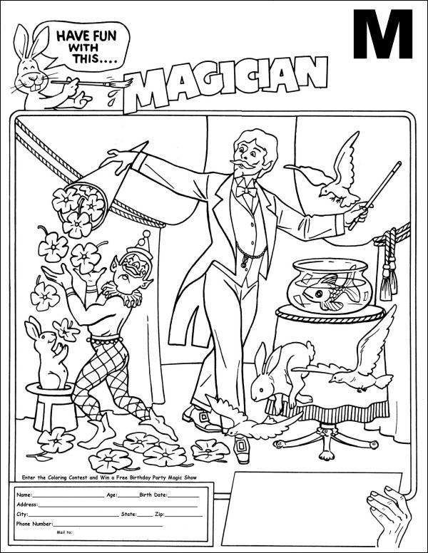 Magician coloring