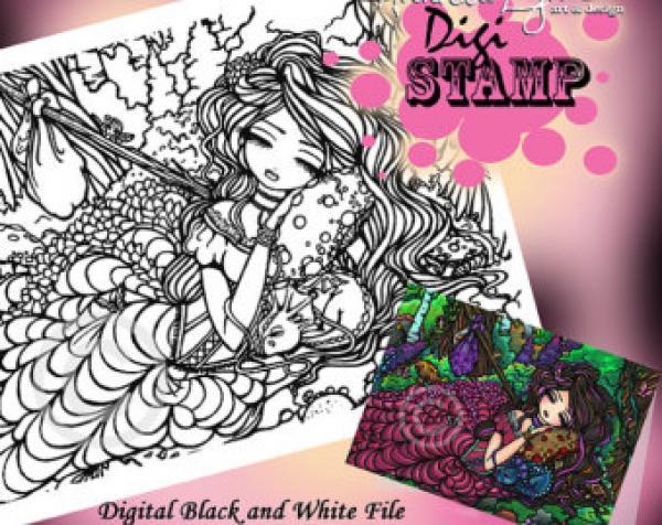 Megenta The Dragon coloring