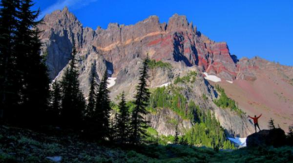 Mount Three Fingered Jack clipart