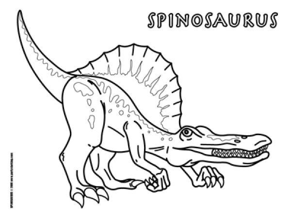 Spinosaurus coloring