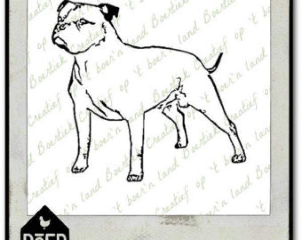 Staffordshire Bull Terrier svg