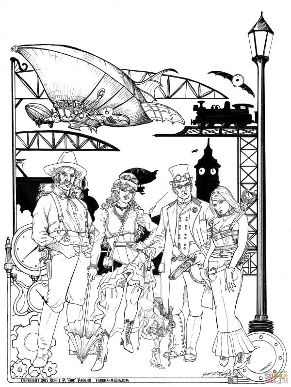 preview Steampunk coloring