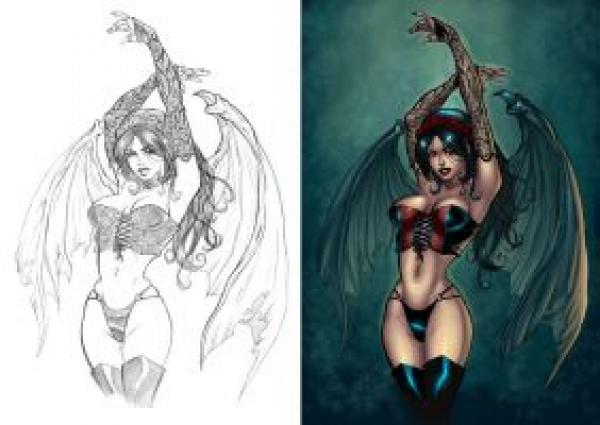 preview Succubus coloring