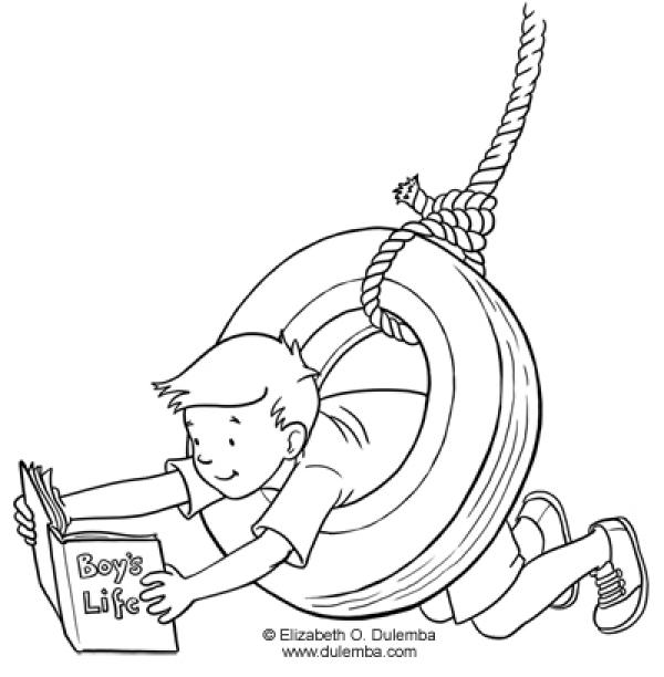 preview Tire Swing coloring