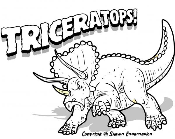 preview Triceratops coloring