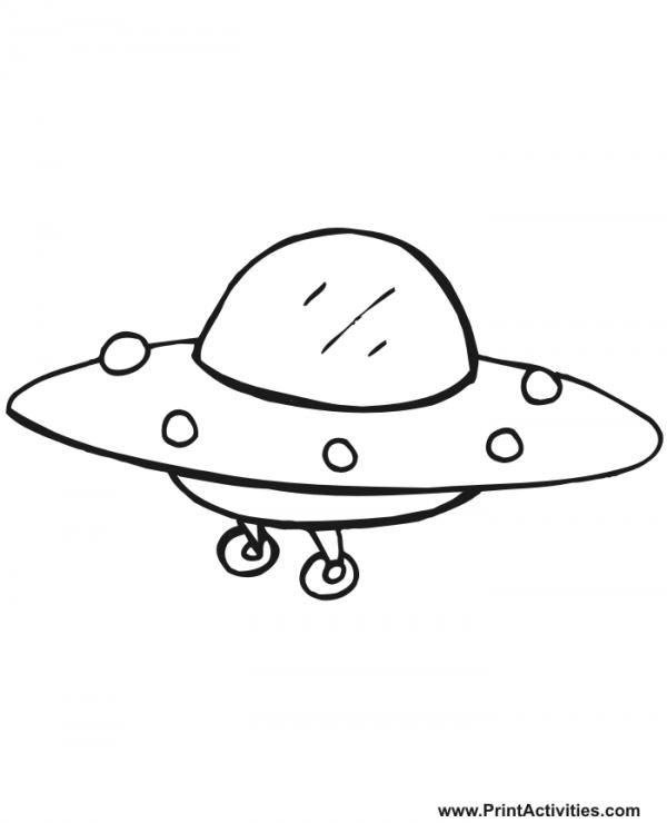 preview UFO coloring