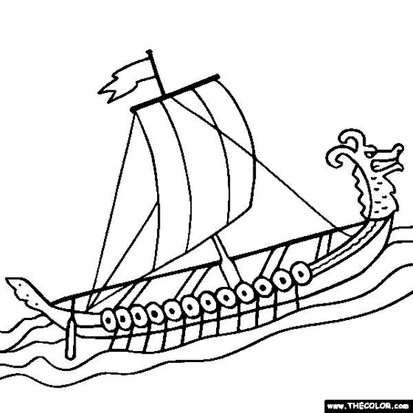 preview Viking Ship coloring