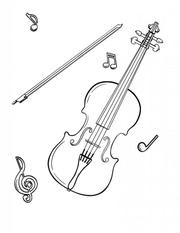 preview Violin coloring