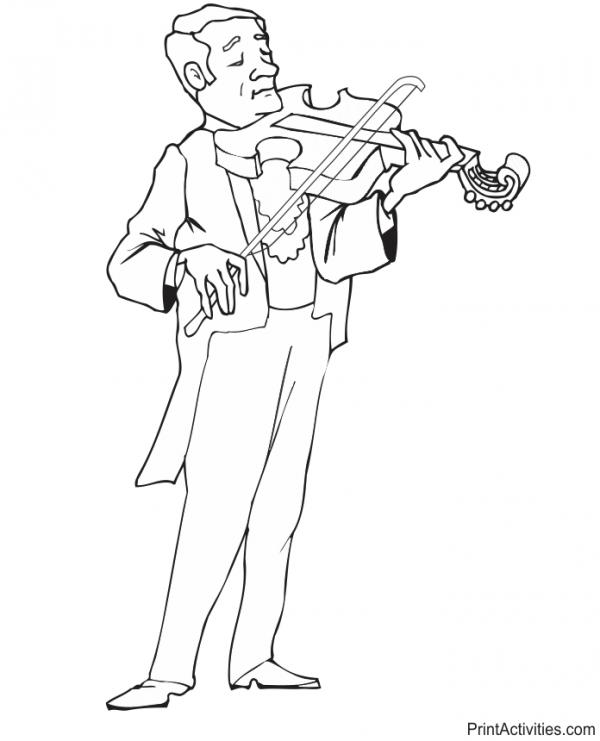 preview Violinist coloring